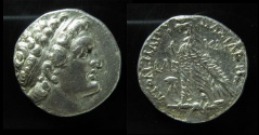 Ancient Coins - EGYPT. Ptolemy VIII, silver Tetradrachm, Kition mint, Rare