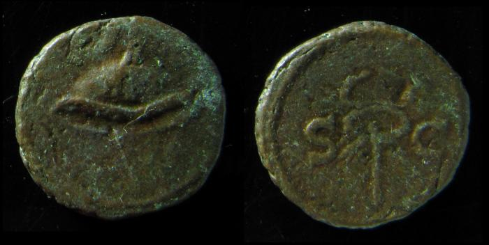 Ancient Coins - ANONYMOUS QUADRANS. DOMITIAN to ANTONINUS PIUS. Petasus / Caduceus