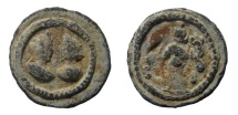 Egypt, Alexandria. Festival of Isis. Lead tessera: Antinous and Isis. 22 mm.
