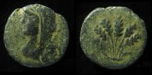 Ancient Coins - DECAPOLIS, Philadelphia ( Amman) Quasi-Autonomous. Demeter / Ears of Corn