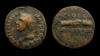 Ancient Coins - Vitellius, 69 AD. AE As. Spanish mint (Tarraco?).