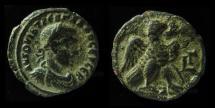 Ancient Coins - EGYPT, Alexandria. Trebonianus Gallus. 251-253 AD. Tetradrachm. Billon. Eagle