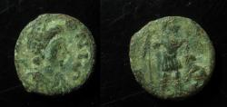 Ancient Coins - Leo I, AE4, 11mm, Constantinople, 457-474 AD. Ex-rare type with legend LEONIS !!!!!