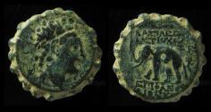 Ancient Coins - Seleukid Kingdom, Antiochos VI Dionysos, 145-142BC, AE22mm, Beautiful example!