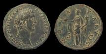 Ancient Coins - ANTONINUS PIUS (138-161). Sestertius. Rome.