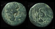 Ancient Coins - Antioch, Domitian 81 - 96 AD. Tenth Legion Fretensis Countermark