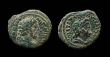 Ancient Coins - Judaea. Caesarea Maritima. Commodus, 177-192 AD. AE 26 mm.