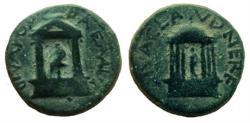 Ancient Coins - Judaea. Caesarea Panias. Diva Poppaea and Diva Claudia. AE 20 mm.