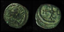 Ancient Coins - JUSTINIAN I, 527-565 AD. AE Pentanummium. Antioch Monogram within Large C