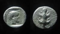 Ancient Coins - KYRENAICA, Kyrene. Circa 480-435 BC. AR Hemidrachm (13mm, 2.99 g).