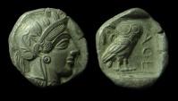 Ancient Coins - Attica, Athens Silver Tetradrachm. 449-420 BC. 16.3 g.  Superb Coin!!!