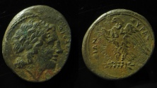 Ancient Coins - SICILY, Syracuse. Hiketas II. 287-278 BC. Æ 21mm. Struck circa 283-279 BC.