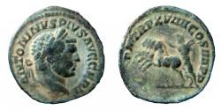 "Ancient Coins - Caracalla, 198-217 AD. Ancient Counterfeit or ""Limes"" Denarius."