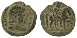 Ancient Coins - Egypt. Alexandria. Antinous, favorite of Hadrian, died 130 AD. AE Diobol.
