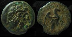 Ancient Coins - Egypt,Ptolemy VIII Euergetes II (145-116 BC). Cyrene.30mm (24.3 gm). Very rare!