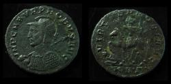 Ancient Coins - PROBUS, 276-282 AD. Helmeted Cuirassed and Spear to Left. Emperor on Horse. Serdica Mint