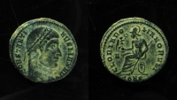 Ancient Coins - Constantine AE 18 mm, Follis. Constantinopole mint.