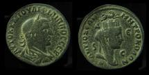 Ancient Coins - SYRIA, Antioch. PHILIP. 244-249 AD. AE29. Turreted Tyche