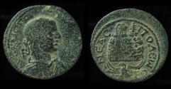 Ancient Coins - JUDAEA, Neapolis. Volusian, 251 - 253 AD. 27mm,  Mt. GERIZIM