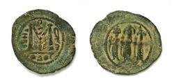 World Coins - ISLAMIC, Umayyad Caliphate. Circa 688-700/10. Æ Fals, Tiberias mint. 26mm, Large flan!