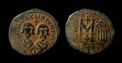 Ancient Coins - Revolt of the Heraclii, Summer 608 - November 610 AD. AE 29 mm, Follis. Alexandretta mint