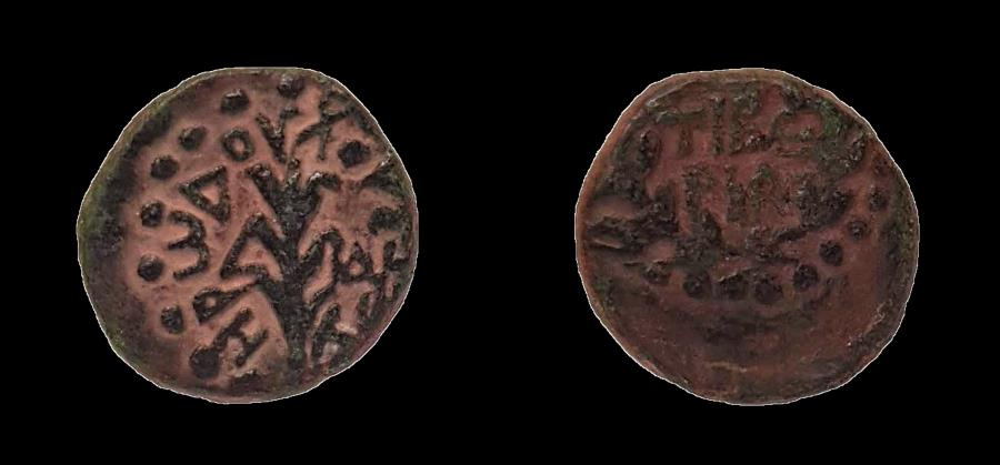 Ancient Coins - Judaea, Herod Antipas (4 BC - 39 AD). AE 14 mm, eighth denomination. Rare to find in such condition!!