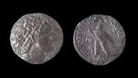 Ancient Coins - Ptolemy VIII Euergetes AR Tetradrachm. Kition (Cyprus) mint, Very Rare & EF!
