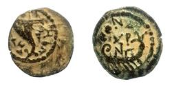 Ancient Coins - Herodians, Herod Archelaus (4 BC-AD 6). AE 18 mm, 2 prutot.