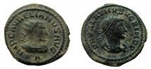 Aurelian, with Vabalathus. 270-275 AD. Antoninianus. Antioch mint.