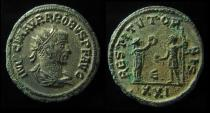 Ancient Coins - Probus Silvered Silvered Antoninianus. Siscia mint, 280 AD