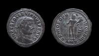 Ancient Coins - Diocletian, 284-305 AD. Silvered AE Follis. Antioch mint. 27 mm.