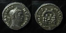 Ancient Coins - Maximian Silver Argenteus. ca 295-297 AD. about EF!