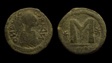 World Coins - Barbaric Imitation of Anastasius Follis. Crude style. AE 33 mm.