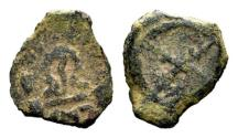 Ancient Coins - JUDAEA, Herod I (the Great). 40-4 BCE. Æ 1/2 Prutah , Jerusalem mint, Rare, Beautiful example!!