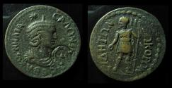 Ancient Coins - PAMPHYLIA, Side. Salonina, 254 - 268 AD. AE30mm. Gallienus Standing and CTM