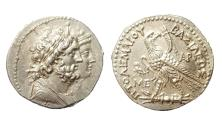 Ancient Coins - Ptolemaic Kingdom, Ptolemy V Epiphanes, Silver Tetradrachm. Soli in Cilicia. Very rare, apparently unpublished. Very attractive, well-struck and sharp.