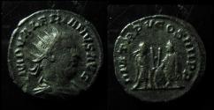 Ancient Coins - VALERIAN I AR ANTONINIANUS. ANTIOCH MINT, 257 AD. VALERIAN & GALLIENUS TOGETHER