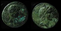 Ancient Coins - CILICIA, AEGEAE. CIVIC ISSUE. TIME OF CALIGULA, 37-41 AD. THE TWO GREATEST FIGURES of ANTIQUITY ON ONE COIN !!