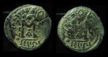 HERACLIUS , MINT of SELEUCIA OVERSTRUCK ON HERACLIUS MINT OF ANTIOCH, AND DOUBLE STRUCK !!!