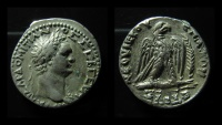 Ancient Coins - Syria, Antioch. Domitian Silver Tetradrachm Year 9 = 89-90 AD.