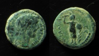 Ancient Coins - Judaea, Askalon. Antoninus Pius. AE 16 mm.