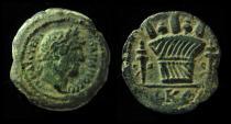 Ancient Coins - EGYPT, Alexandria. Hadrian 117 - 138 AD. AE. Modius, Poppies & Grain-Ears