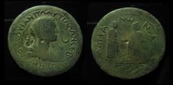 Ancient Coins - Cilicia, Adana. Plautilla Augusta, AE 40 mm. Medallion with Countermark. RARE!!!!
