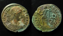 Ancient Coins - Constans, 337 - 350 A.D AE 24 mm. Rome mint. Rare.