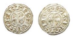 Ancient Coins - Latin Kingdom of Jerusalem, Crusaders. Moneta Regis issues. Bilon Denier. Acre mint.