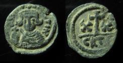 Ancient Coins - Constans II. 641-668 AD. AE Half Follis, Carthage mint, Rare!