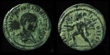 Ancient Coins - CONSTANTINE II Caesar. 316-337 AD. AE FOLLIS. CLARITAS REPUBLICAE. BARE HEAD ! TICINUM