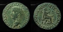Ancient Coins - ZEUGITANIA, Utica. Tiberius. AD 14-37. AE 30mm.  A.M. Gemellus Praetor!! Sharp detales!!!