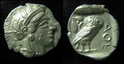 Ancient Coins - Attica, Athens Silver Tetradrachm. After 449 BC. (17.1gm) Superb coin!