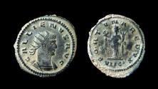 Ancient Coins - Gallienus, 253-268 AD. AE Antoninianus. Antioch mint.